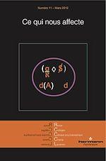 Téléchargez le livre :  Revue des Collèges de Clinique psychanalytique du Champ Lacanien - n°11