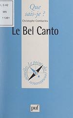 Téléchargez le livre :  Le Bel Canto