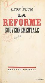 Download this eBook La réforme gouvernementale