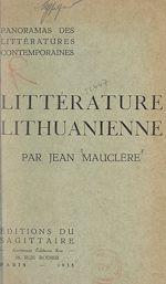 Download this eBook Panorama de la littérature lithuanienne contemporaine