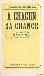 Download this eBook À chacun sa chance