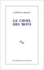 Download this eBook Le Choix des mots
