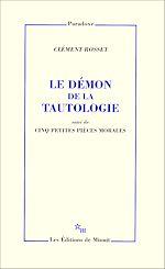 Download this eBook Le Démon de la tautologie, suivi de cinq petites pièces morales