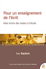 Download this eBook Pour un enseignement de l'écrit