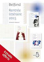 Télécharger cet ebook : Rentrée littéraire extraits 2015, domaine français