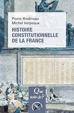 Téléchargez le livre :  Histoire constitutionnelle de la France