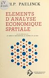 Télécharger le livre :  Éléments d'analyse économique spatiale