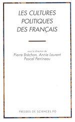 Téléchargez le livre :  Les cultures politiques des Français