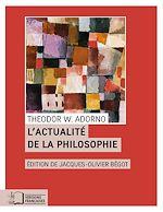 Download this eBook L'Actualité de la philosophie et autres essais