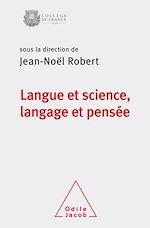 Download this eBook Langue et science, langage et pensée