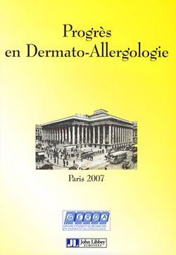 Progrès en dermato-allergologie - Paris 2007