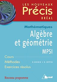Téléchargez le livre :  Algèbre et géométrie MPSI