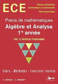 Téléchargez le livre :  Algèbre et analyse 1ère année - option économique