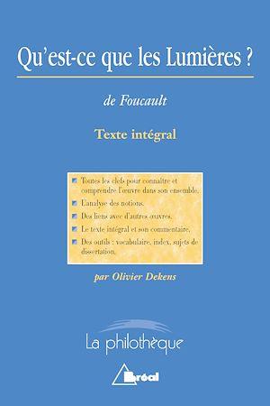 Téléchargez le livre :  Qu'est-ce que les Lumières ? (M.Foucault)