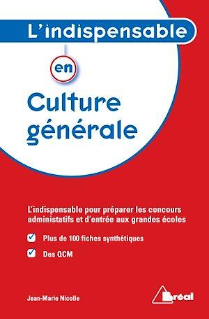 Téléchargez le livre :  L'Indispensable en culture générale