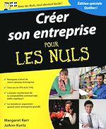 Download this eBook Créer son entreprise Pour les Nuls, version québec