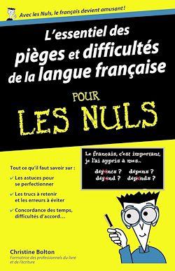 Download the eBook: L'essentiel des pièges et difficultés de la langue française Pour les Nuls