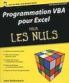 Télécharger le livre :  Programmation VBA pour Excel 2013 et 2016 pour les Nuls grand format