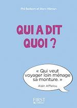Download this eBook Petit Livre - Qui a dit quoi ?