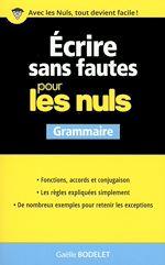 Download this eBook Ecrire sans fautes pour les Nuls