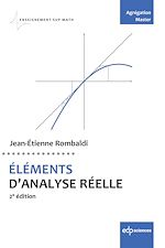 Téléchargez le livre :  ÉLÉMENTS D'ANALYSE RÉELLE
