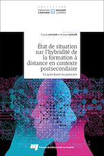 Download this eBook État de situation sur l'hybridité de la formation à distance en contexte postsecondaire, tome 1
