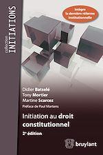 Téléchargez le livre :  Initiation au droit constitutionnel