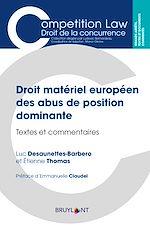 Téléchargez le livre :  Droit matériel européen des abus de position dominante