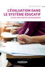 Download this eBook L'évaluation dans le système éducatif