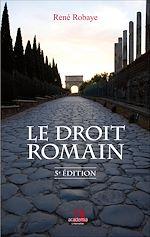 Téléchargez le livre :  Le droit romain