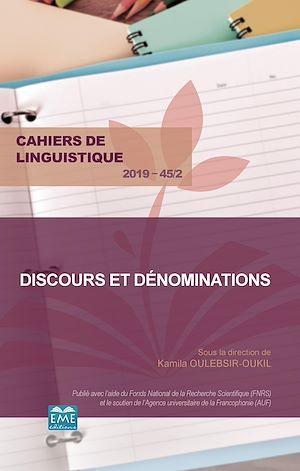 Téléchargez le livre :  Discours et dénominations