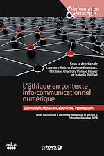 Download this eBook L'éthique en contexte info-communicationnel numérique