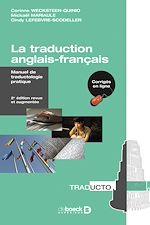 Téléchargez le livre :  La traduction anglais-français