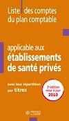 Télécharger le livre : Liste des comptes du plan comptable applicable aux établissements de santé privés - 3e édition