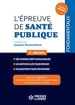 Download this eBook L'épreuve de santé publique