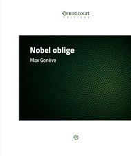 Téléchargez le livre :  Nobel oblige