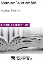 Téléchargez le livre :  Monsieur Gallet, décédé de Georges Simenon