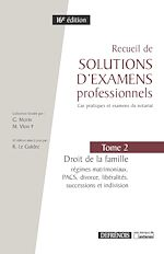 Download this eBook Recueil de solutions d'examens professionnels - 16e édition