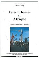 Download this eBook Fêtes urbaines en Afrique