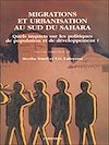 Télécharger le livre :  Migrations et urbanisation au sud du Sahara