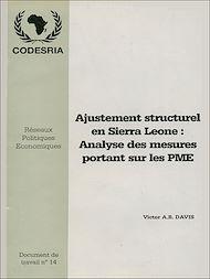 Téléchargez le livre :  Ajustement structurel en Sierra Léone: Analyse des mesures portant sur les PME