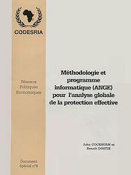 Téléchargez le livre :  Méthodologie et programme informatique (ANGE) pour l'analyse globale de la protection effective