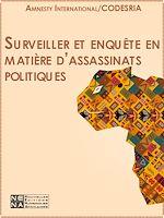 Téléchargez le livre :  Surveiller et enquêter en matière d'assassinats politiques