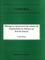 Download this eBook Ménages et perspectives de relance de l'agriculture en Afrique au sud du Sahara