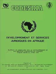 Téléchargez le livre :  Développement et services juridiques en Afrique