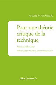 Téléchargez le livre :  Pour une théorie critique de la technique