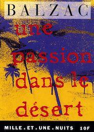 Téléchargez le livre :  Une passion dans le désert