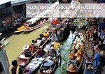 Marchés flottants de Thaïlande - Floating Market in Thailand
