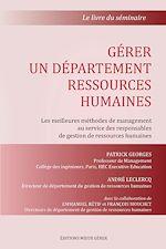 Gérer un département ressources humaines