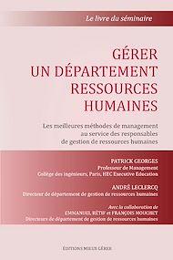 Téléchargez le livre :  Gérer un département ressources humaines